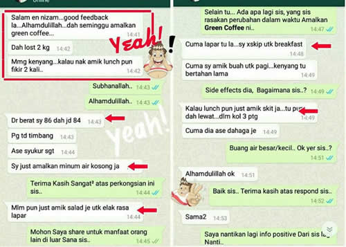 Testimoni Green Coffee Svetol